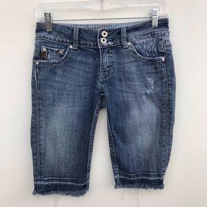 Miss Me Bermuda Raw Hem Shorts #866